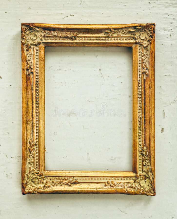 Золотая барочная старая рамка стоковое изображение rf