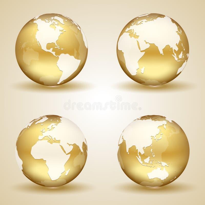 Золотая земля иллюстрация штока