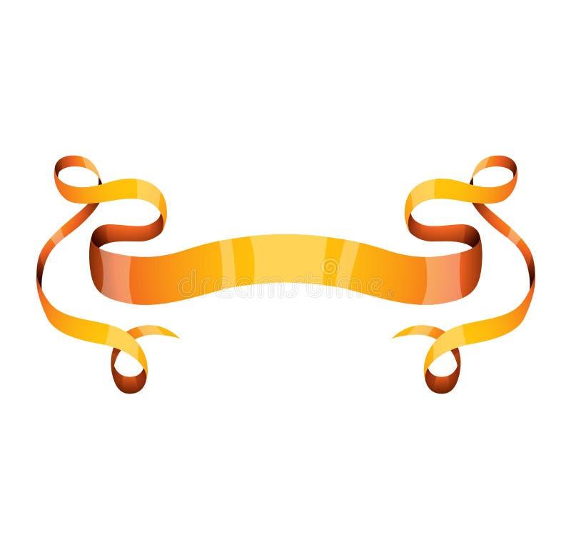 Download Золотая иллюстрация вектора ленты Иллюстрация вектора - иллюстрации насчитывающей уговариваний, предмет: 81801557