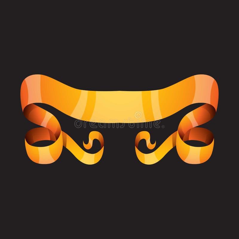 Download Золотая иллюстрация вектора ленты Иллюстрация вектора - иллюстрации насчитывающей ornate, иллюстрация: 81801594