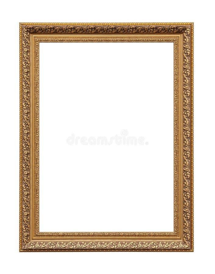 Золотая классическая рамка холста картины стоковые изображения rf