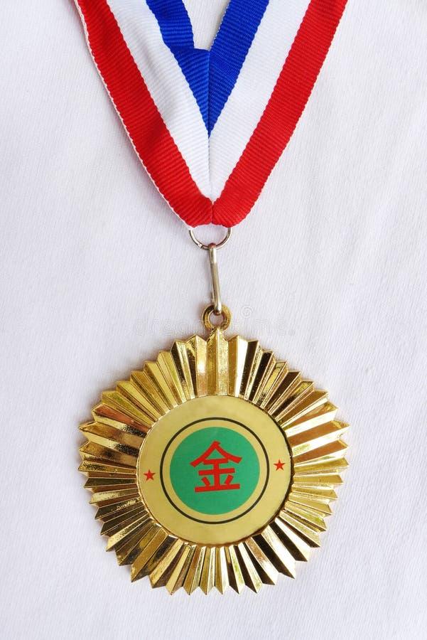Золотая медаль от Китая стоковые изображения