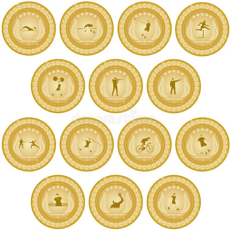 Золотая медаль sport-3 бесплатная иллюстрация