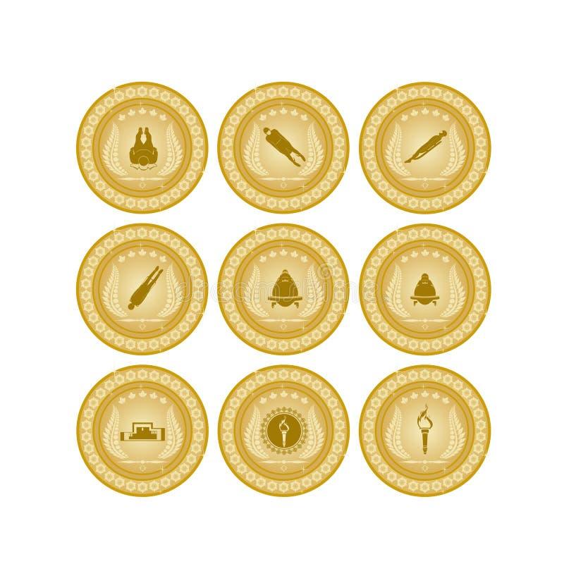 Золотая медаль sport-7 иллюстрация штока