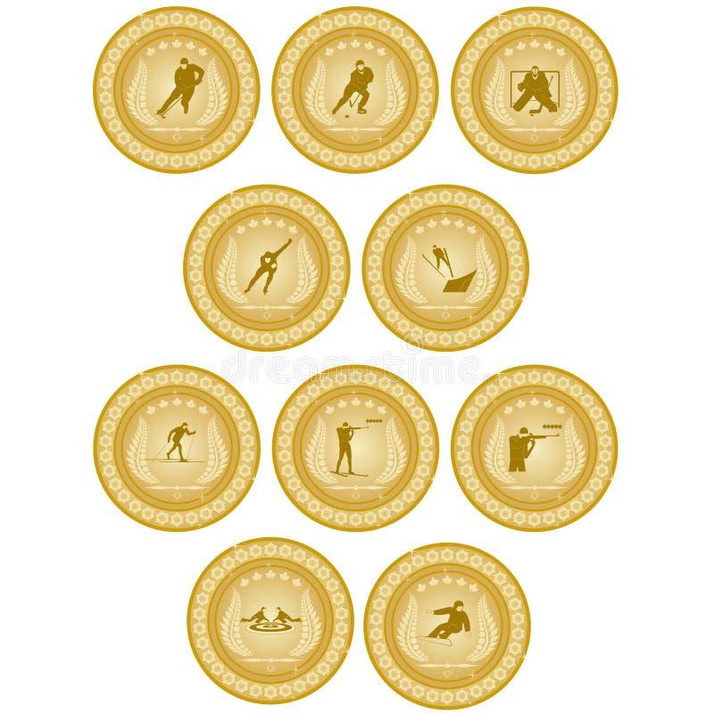 Золотая медаль sport-6 иллюстрация вектора