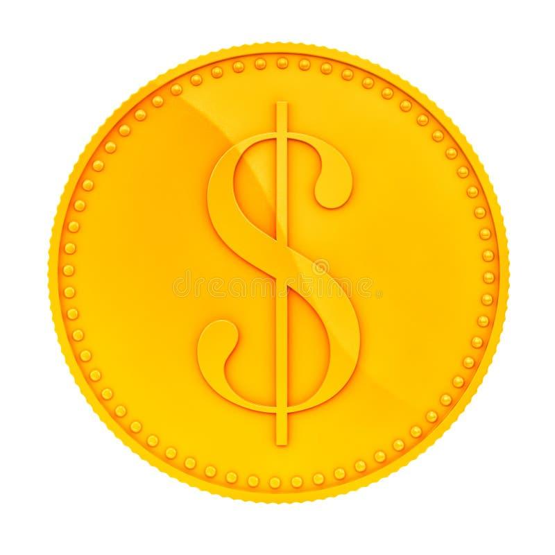 Золотая монетка иллюстрация штока