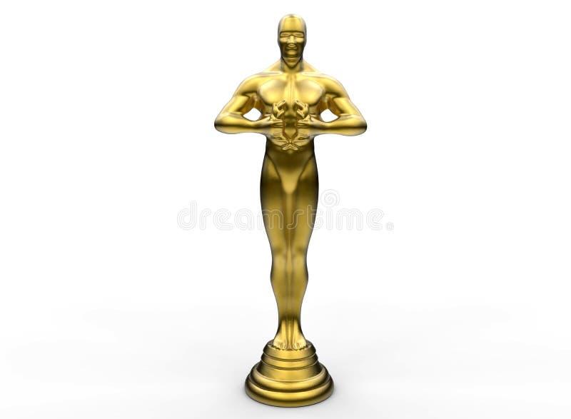 Золотая награда статуи иллюстрация вектора