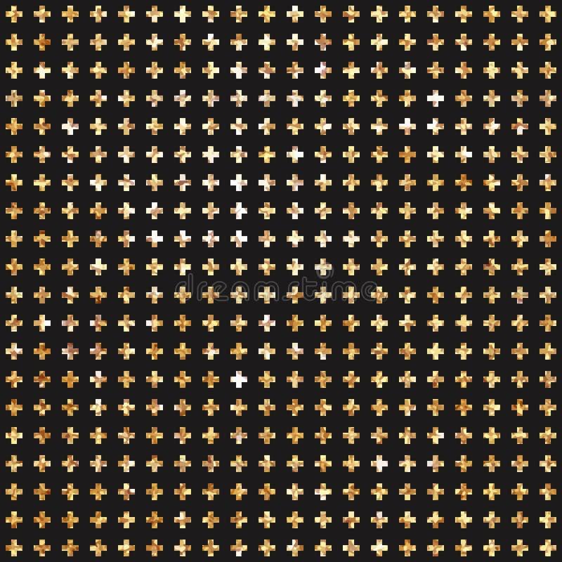 Золотая перекрестная безшовная предпосылка картины Битник бесплатная иллюстрация