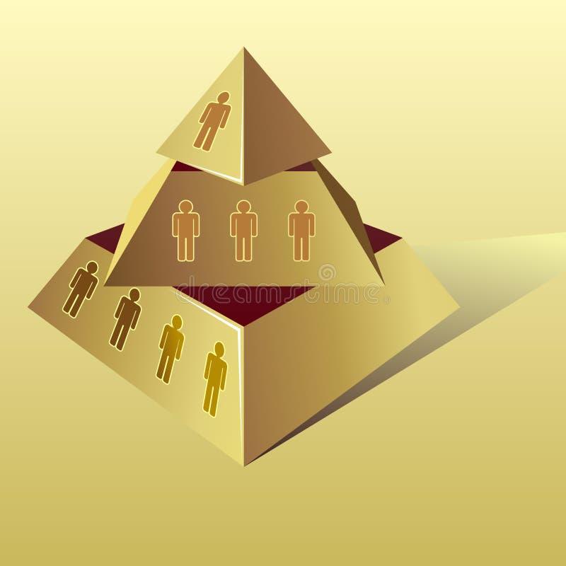 Золотая пирамида иллюстрация вектора