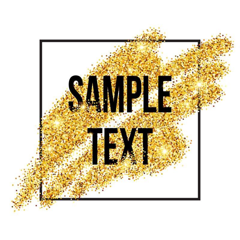 Золотая предпосылка brushstroke sparkles вектор иллюстрация вектора