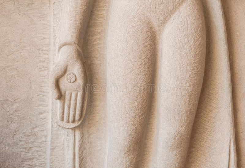 Золотая рука Будды стоковое изображение rf
