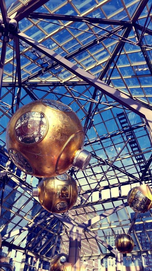 Золотая структура крыши сферы стоковые фотографии rf