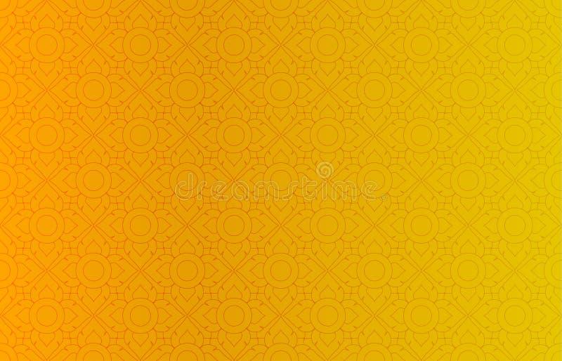 Золотая тайская винтажная предпосылка вектора картины бесплатная иллюстрация