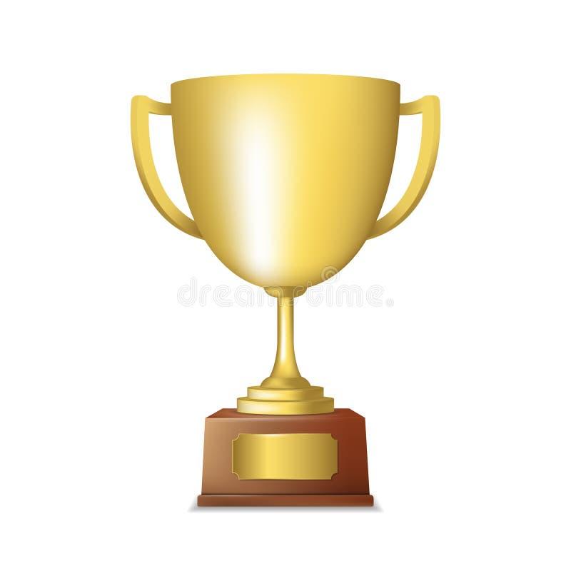 Download Золотая эмблема трофея иллюстрация вектора. иллюстрации насчитывающей глянцевато - 40586067
