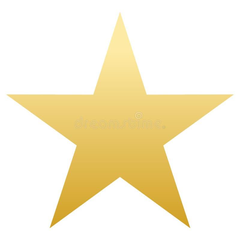 золотистая звезда сформируйте просто Белая предпосылка иллюстрация иллюстрация штока
