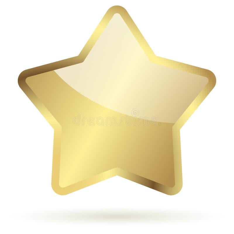 золотистая звезда иллюстрация штока