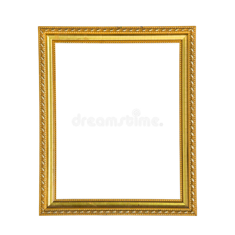 Золотистая рамка фото стоковое изображение rf