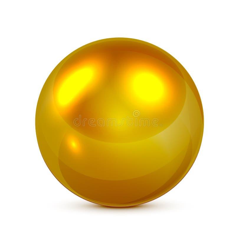золотистая сфера иллюстрация вектора