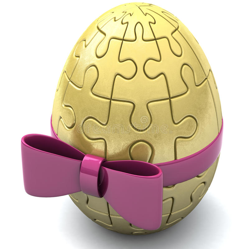 Пасхальное яйцо головоломки, 3d иллюстрация вектора