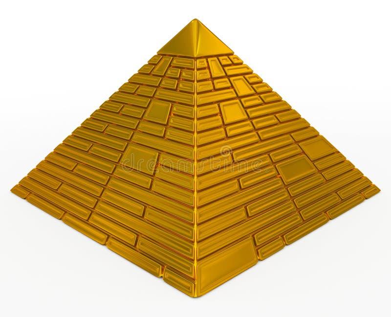 Пирамидка золотистая иллюстрация вектора