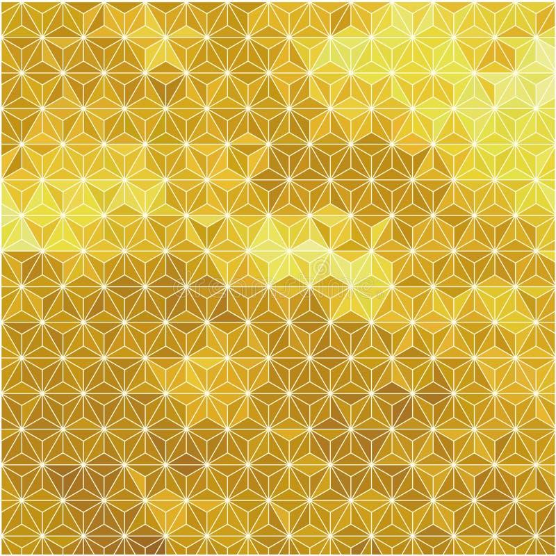 золотистое предпосылки геометрическое иллюстрация штока