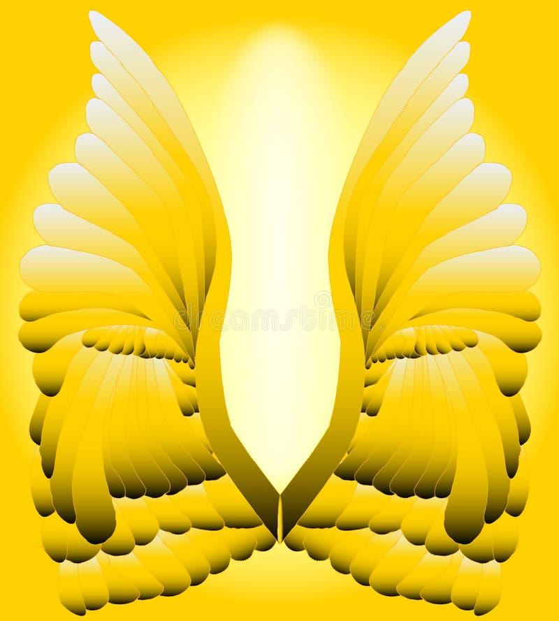 золотистые крыла иллюстрация штока