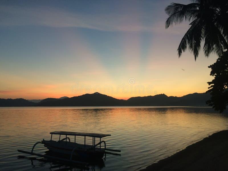 золотистый восход солнца стоковое изображение rf