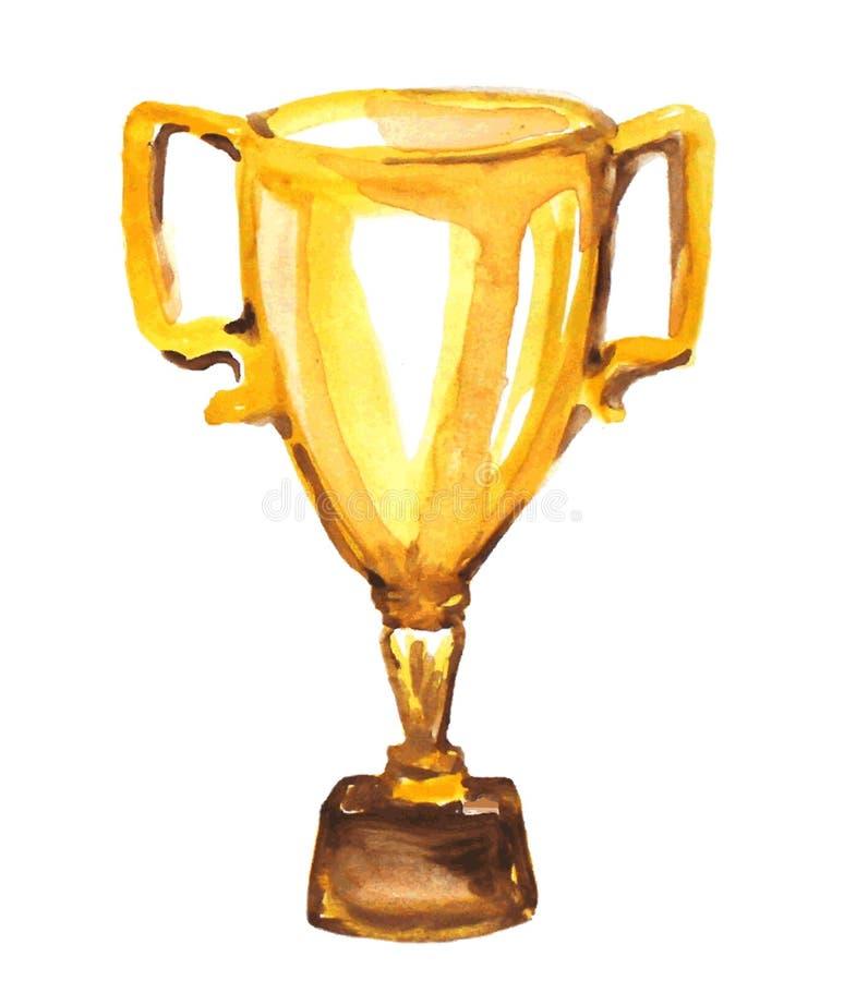золотистый трофей иллюстрация вектора