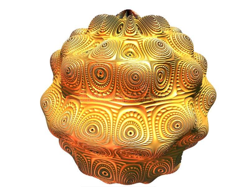 Золотистый шар иллюстрация штока