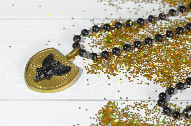 золотистый шкентель стоковое изображение rf