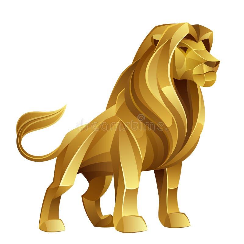 золотистый львев иллюстрация штока