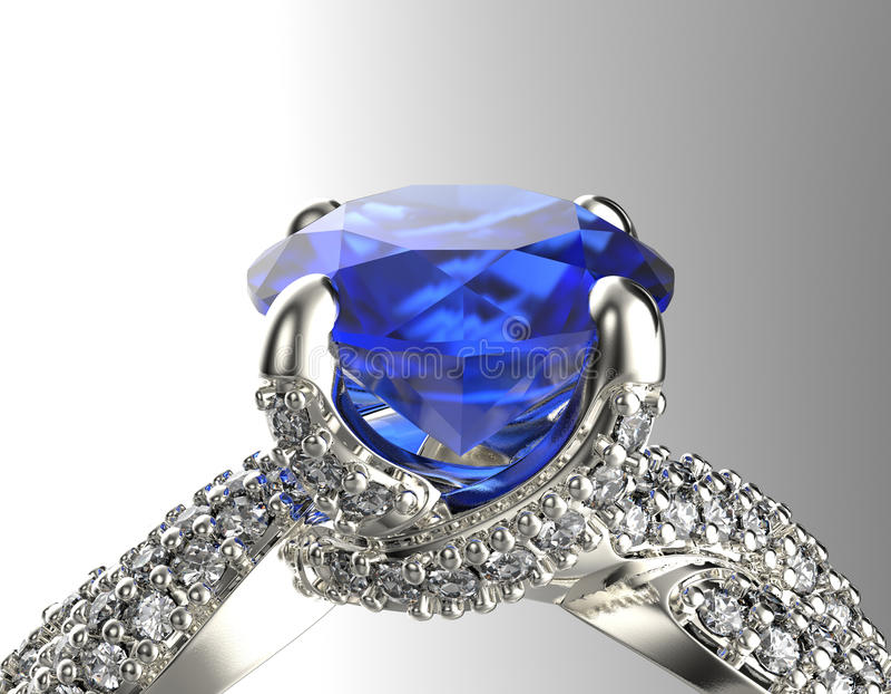 Золотое обручальное кольцо с диамантом или moissanite Backg ювелирных изделий стоковые изображения rf