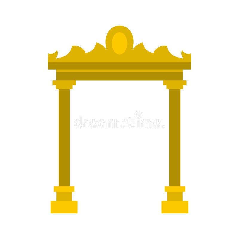 Золотой античный значок свода, плоский стиль бесплатная иллюстрация