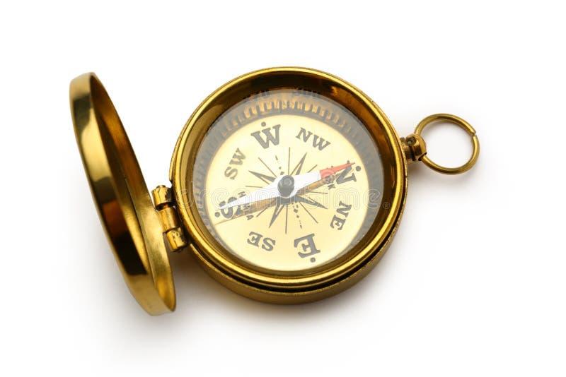 Золотой винтажный компас стоковое изображение rf