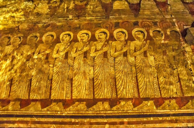 Золотой висок в Dambulla Budda стоковая фотография rf