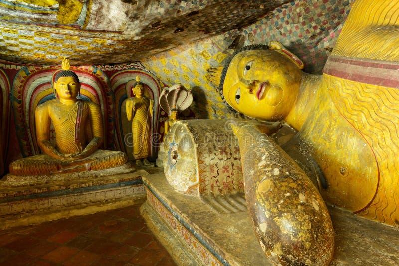 Золотой висок Dambulla, Шри-Ланки стоковые изображения