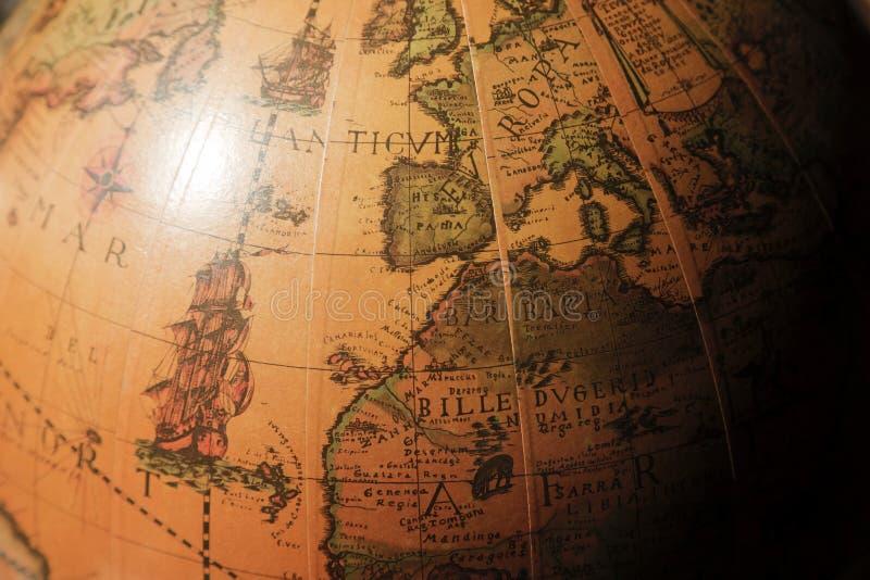 Золотой глобус стоковое изображение rf
