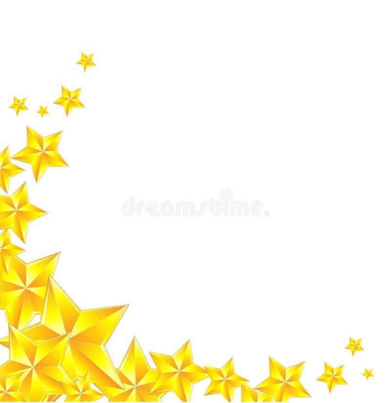 Золотой значок звезды на белой предпосылке иллюстрация вектора