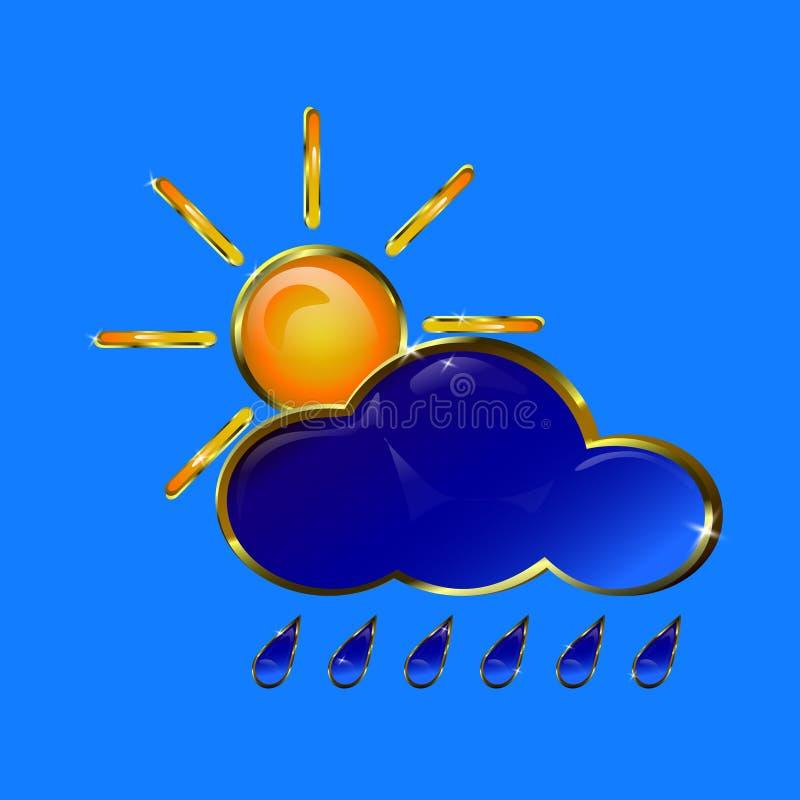 Золотой значок погоды стоковые изображения rf