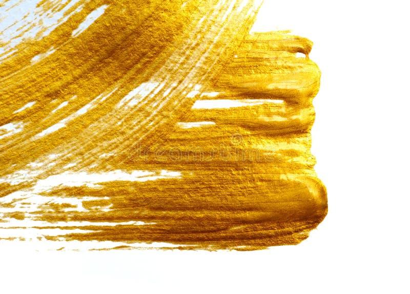 Золотой дизайн элемента краски хода бесплатная иллюстрация