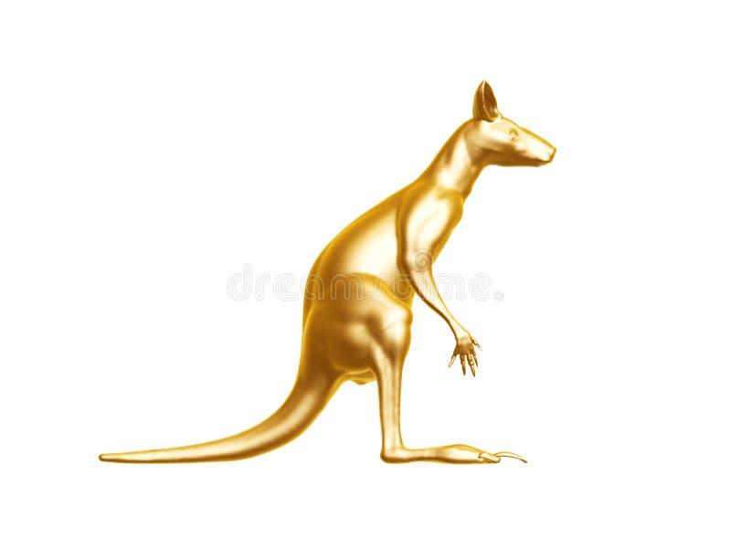 Золотой кенгуру стоковое изображение rf