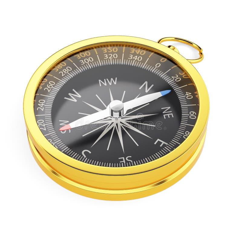 Download Золотой компас изолированный на белой предпосылке Стоковое Фото - изображение: 61743040