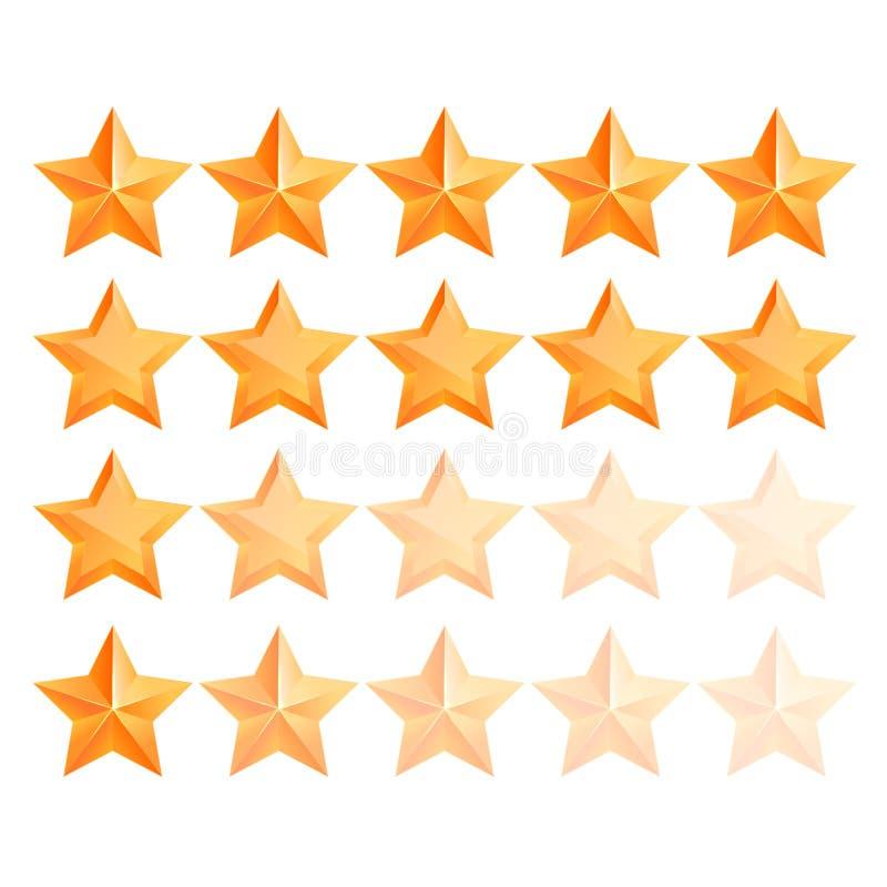 Золотой комплект награды звезды 3d Самое лучшее вознаграждение бесплатная иллюстрация