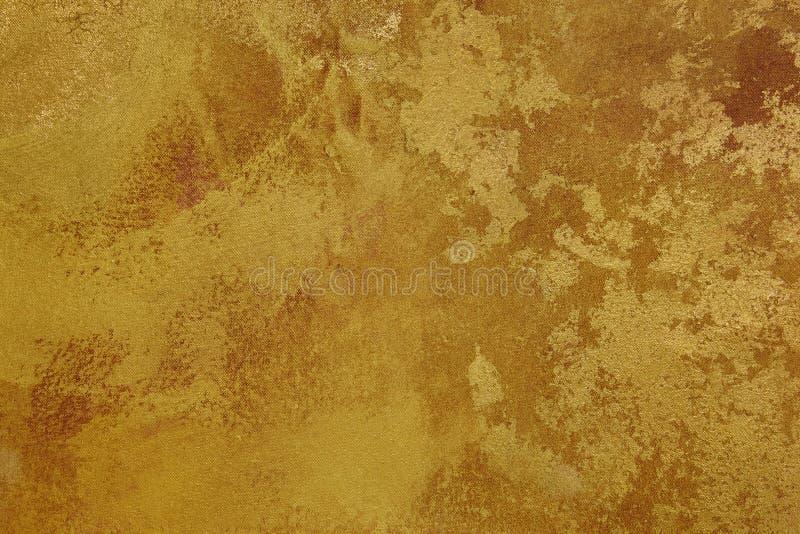 Золотой коричневый холст предпосылки текстуры скопируйте космос стоковое фото