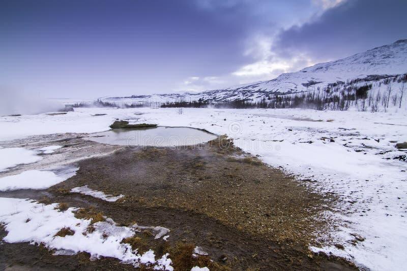 Золотой круг в Исландии во время зимы стоковая фотография rf