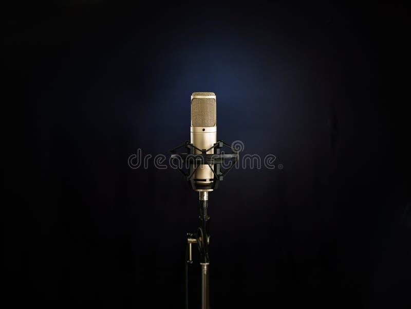 Золотой микрофон стоковое фото