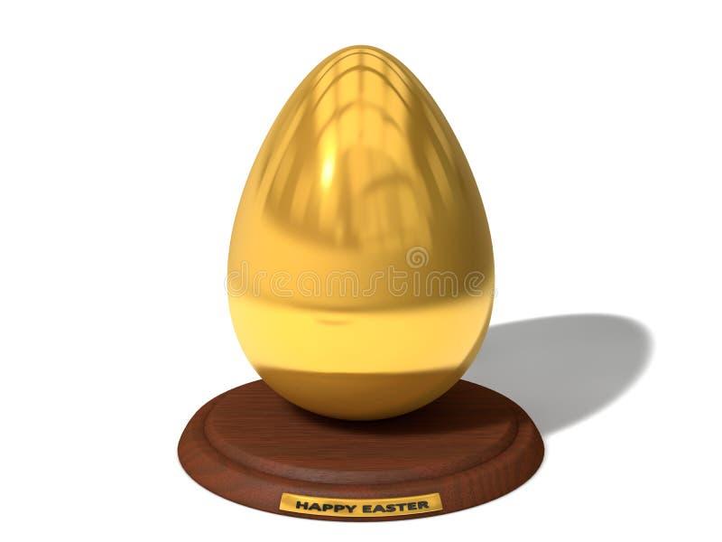 Золотой приз яичка иллюстрация вектора