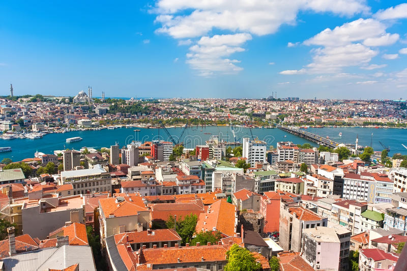 Золотой рожок в Стамбуле стоковые изображения