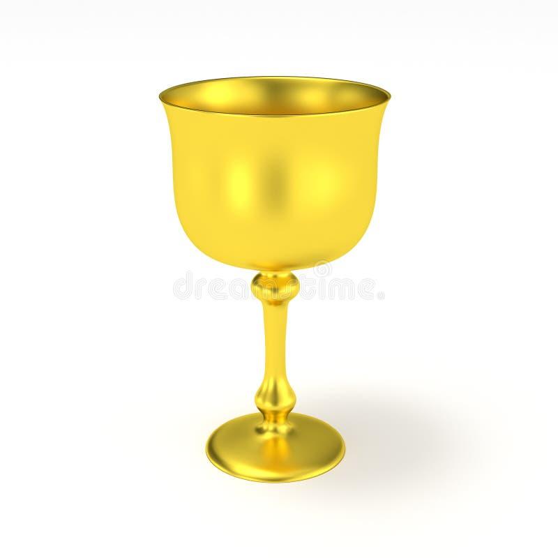 Золотой Святой Грааль кубка иллюстрация штока