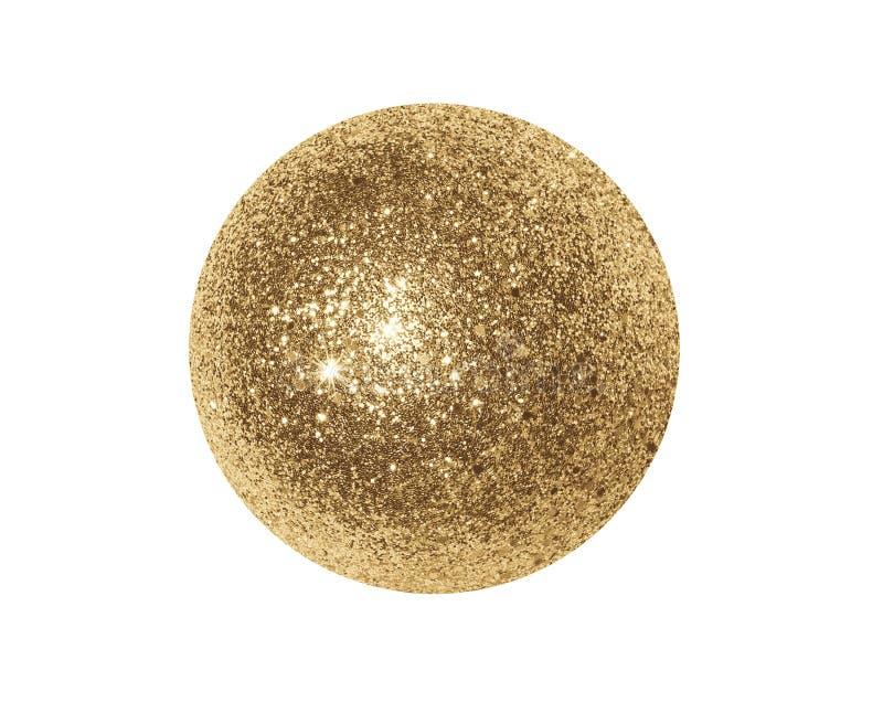 Золотой сияющий шарик стоковое фото rf